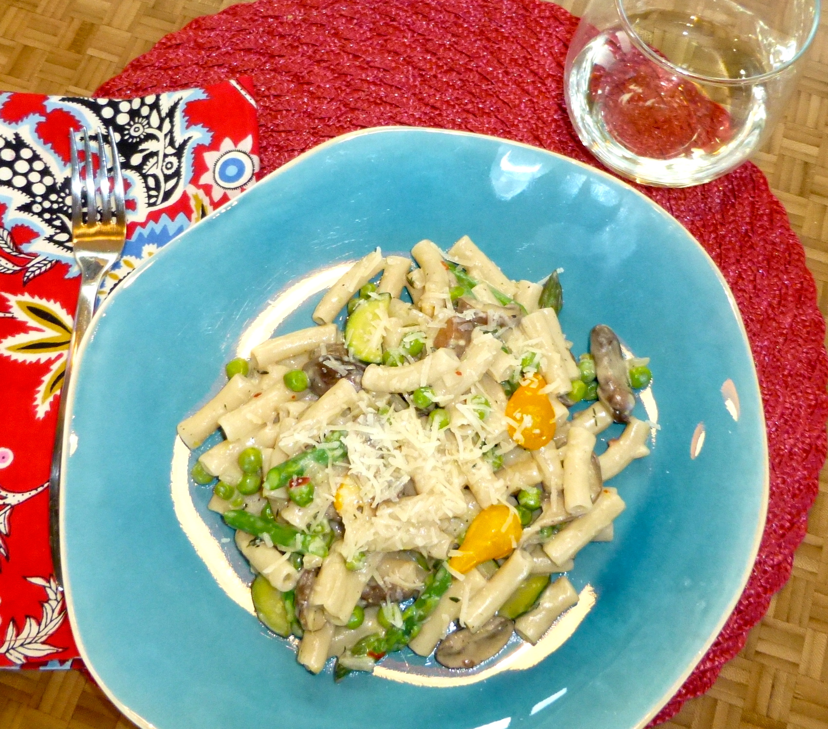 Teamwork (and Spring Vegetable Penne). – the usual bliss