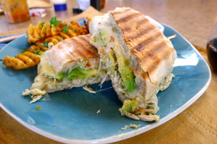 The only bad thing about these chicken chile verde panini is that I ...